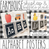 Farmhouse - Shiplap & Buffalo Plaid Alphabet Posters & Bunting