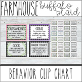 Farmhouse - Shiplap & Buffalo Plaid Behavior Clip Chart
