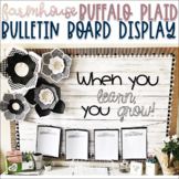 Farmhouse - Shiplap & Buffalo Plaid Bulletin Display with