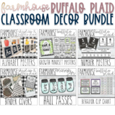 Farmhouse - Shiplap & Buffalo Plaid Classroom Decor Bundle