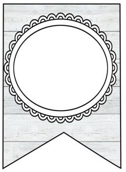 Farmhouse - Shiplap & Buffalo Plaid Editable Banner Letter Templates