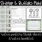 Farmhouse - Shiplap & Buffalo Plaid Rules Posters, Think S