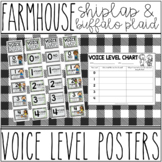Farmhouse - Shiplap & Buffalo Plaid Voice Level Posters & Graphic Organizer