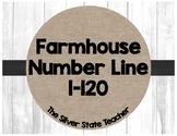 Farmhouse Shiplap & Burlap Number Line 1-100