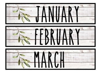 Farmhouse Shiplap ~ Calendar Set
