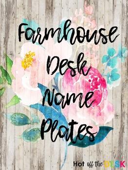 Farmhouse Shiplap Desk Name Plates