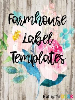 Farmhouse Shiplap Editable Labels