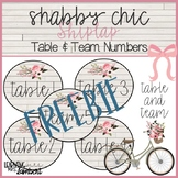 FREE Shabby Chic Shiplap Floral Table & Team Numbers FREEBIE!