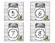 Farmhouse Shiplap Mason Jar Number Labels