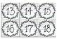 Farmhouse Shiplap Number Labels