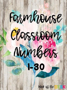 Farmhouse Shiplap Numbers