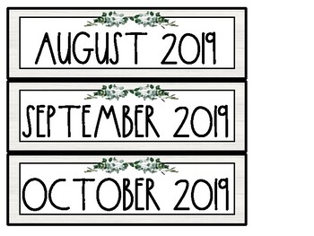 Farmhouse Shiplap Pocket Chart Calendar | Freebie