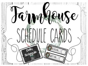 Farmhouse Shiplap Schedule Cards