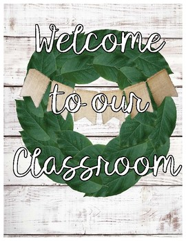 Farmhouse Shiplap Welcome to our Classroom