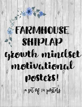 Farmhouse Shiplap growth mindset motivational posters