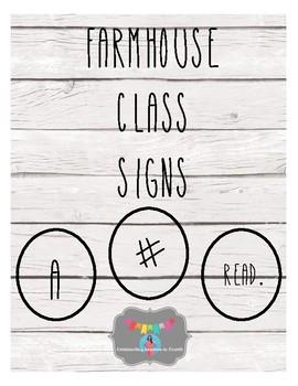 Farmhouse Class Signs