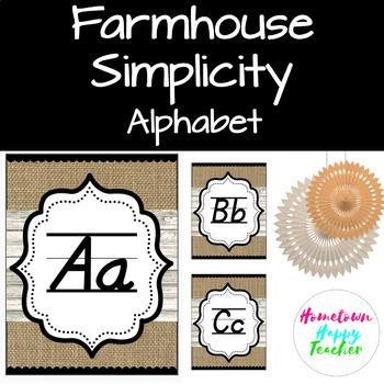 Farmhouse Simplicity- Alphabet