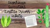 Farmhouse Sterilite Drawer Labels