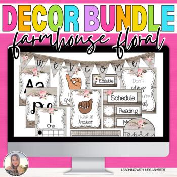 Farmhouse String Lights Classroom Theme Decor Bundle
