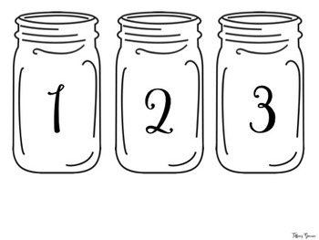 Farmhouse Student Display Numbers {Farmhouse Classroom}