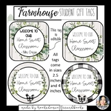 Farmhouse Student Gift Tags- Back to School Gift Tag
