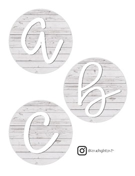 Farmhouse Style Alphabet Tags