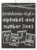 Farmhouse-Style Alphabet and Number Lines