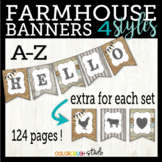 Farmhouse Classroom Decoration Banners in 4 Styles With Ex