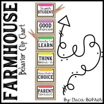 Farmhouse Style Behavior Clip Chart