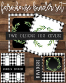 Farmhouse Style Binder Cover Pages, Divider Pages, and Binder Spines - Editable