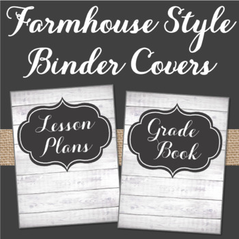 Farmhouse Style Binder Covers Shiplap & Chalkboard