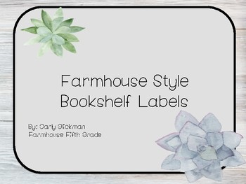 Farmhouse Style Bookshelf Labels