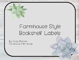 Farmhouse Style Bookshelf Labels