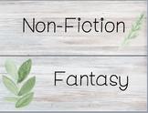 Farmhouse Style Bookshelf Labels (Editable Version)