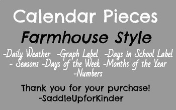 Farmhouse Style Calendar Pieces
