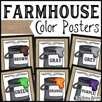 Farmhouse Style Color Posters