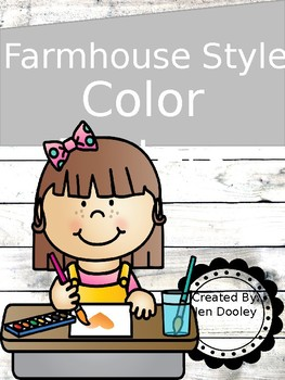 Farmhouse Style Color Word posters