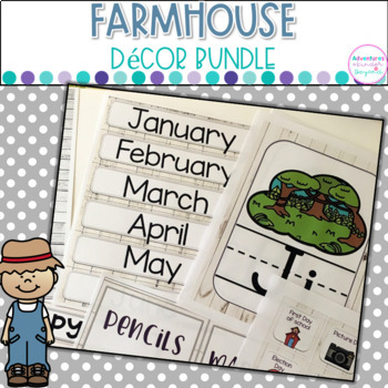 Farmhouse Decor Kit- Editable