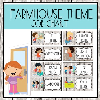 Farmhouse Style Job Chart