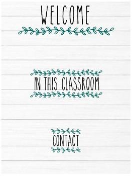 Farmhouse Style - Meet the Teacher