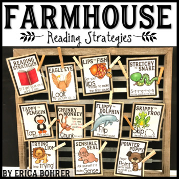 Farmhouse Style Reading Strategies {FREEBIE}