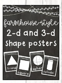Farmhouse-Style Shape Posters