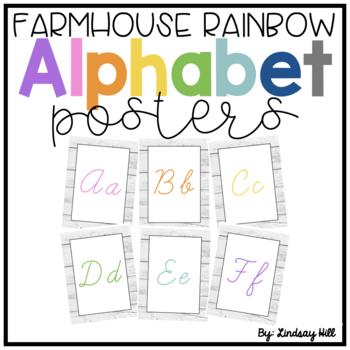 Farmhouse Style Shiplap Alphabet Posters