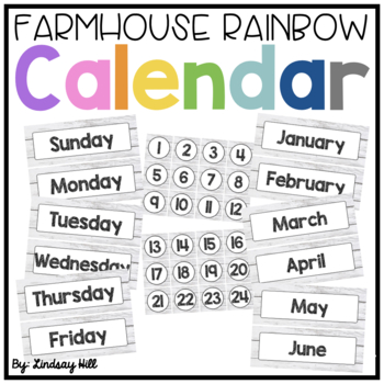 Farmhouse Style Shiplap Calendar Pack
