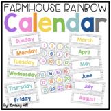 Farmhouse Rainbow Shiplap Calendar Pack
