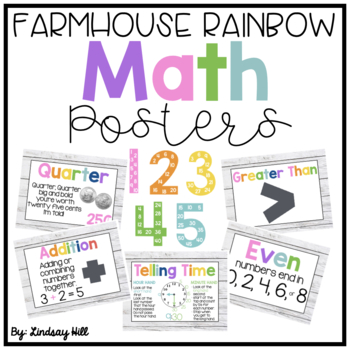 Farmhouse Style Shiplap Math Posters