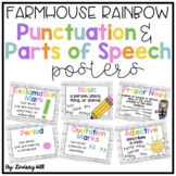 Farmhouse Style Shiplap Punctuation & Parts of Speech Posters