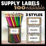 Farmhouse Decor Supply Labels: 100 Labels & editable!