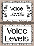 Farmhouse Style Voice Level posters