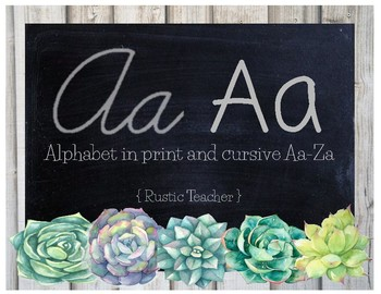 Farmhouse Succulent Alphabet
